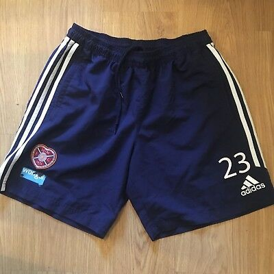 """Heart of Midlothian Players Football Shorts No 23 made by Adidas size Adult 36"""""""