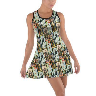 Haunted Mansion Stretch Paintings Cotton Racerback Dress