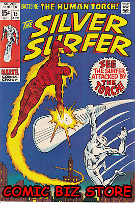 Silver Surfer #15 (1970) Bronze Age Marvel 1St Print Vfn 8.0 Bagged & Boarded