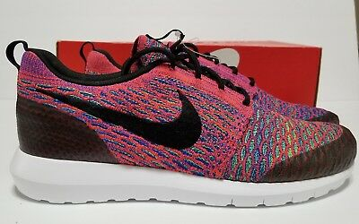 cozy fresh f09f6 a80ec Nike ROSHE NM FLYKNIT SE SHOES Mens Size 10 crimson 816531 600
