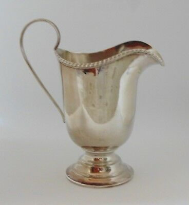 Collectable Silver Plated Helmet Shaped Milk Jug With Stamps