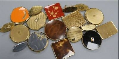 Collection  18 Vintage Stratton of Mayfair Powder Compacts + Lipstick Holders