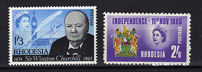 RHODESIE Rhodesia 1965 Churchill Independence Yv 113/114 MNH **