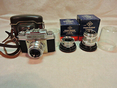Agfa Ambi-Silette mit 2,8/50mm, 4/35mm, 9/90mm nomal condition