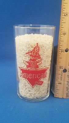 American Beer shell glass with drummer on it