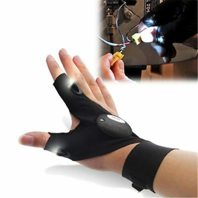 Finger less Glove LED Repair Flashlight Survival Outdoor Cycling Rescue Tool