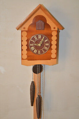 MAYAK MAJAK VINTAGE 1970`s USSR RUSSIAN WOODEN CUCKOO CLOCK Like a NEW!!!