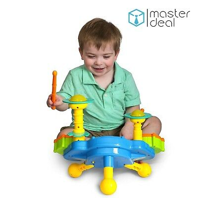 Musical Kids Jazz Drum Play Baby Toddler Colourful Lights Music Educational Toy