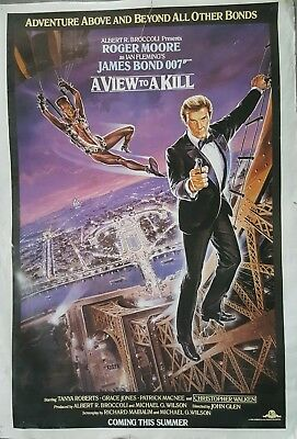 James Bond A VIEW TO A KILL original 1985 advance one-sheet poster Roger Moore