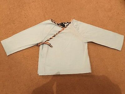 Baby Boy Burberry Top Age 3 Months Pale Blue