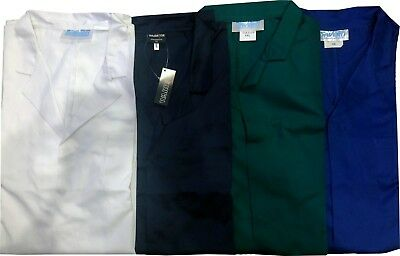 Lab Warehouse Coat Overall Work Smock Navy Royal Blue Green Food Industry WC23