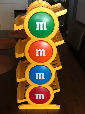 """Rare Mars M&M Candy Display Candy Stand Yellow 24"""" Tall Grab Your Favorites"""