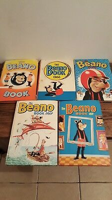 Beano annuals job lot 1964 1966 1968 1969 1971 classic comics Dennis the Menace