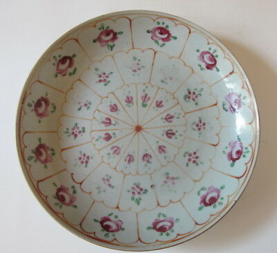 Antique 19th Century Hand Painted Floral Plate/ Shallow Bowl 9.5""