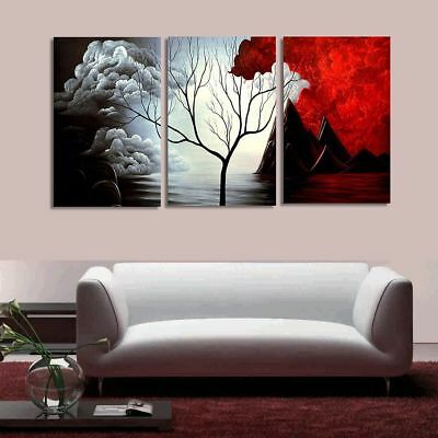 3 PCS Tree Modern Abstract Landscape Canvas Painting Print Picture Home Art No