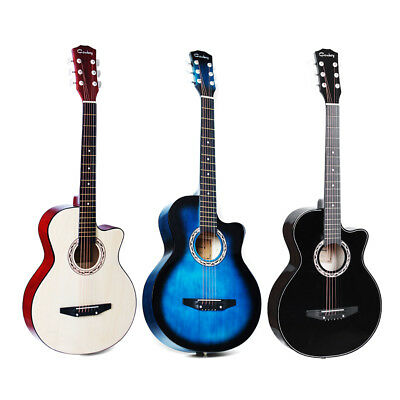 38 Inch Acoustic Classic Guitar Basswood Body Musical Instrument For Beginners