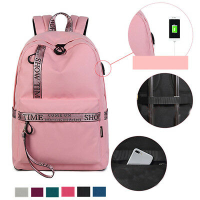 18L 15 Inch Laptop Backpack Portable Polyester Anti-Theft USB Bag Pack