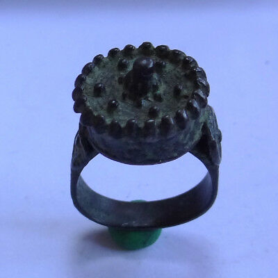Medieval Ancient Artifact Bronze Lady Ring