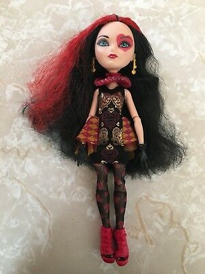 """Monster High 11"""" Doll EVER AFTER LIZZIE HEARTS QUEEN WONDERLAND First Chapter"""