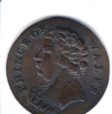 Middlesex  Prince of Wales  Farthing  Ich Dien  ( DH 1140 )  scarce