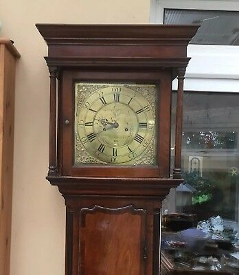antique longcase grandfather clock 8 Day By Taylor Whitehaven C1760