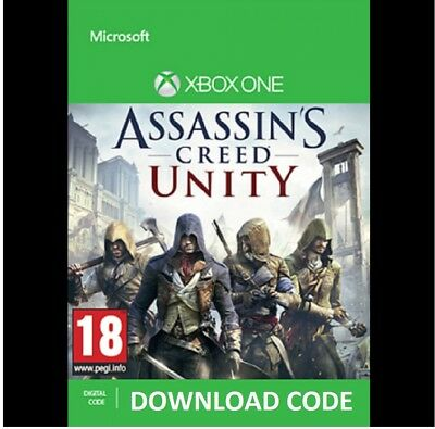 Assassin's Creed Unity XBOX ONE DIGITAL DOWNLOAD Full Game redeem on Xbox Live