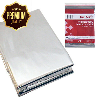10x Premium Foil Survival Blanket, Reflective & Thermal Safety, Emergency...