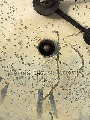 Rare Military Smiths Brass Bulhead Ships Clock Dated London 1946