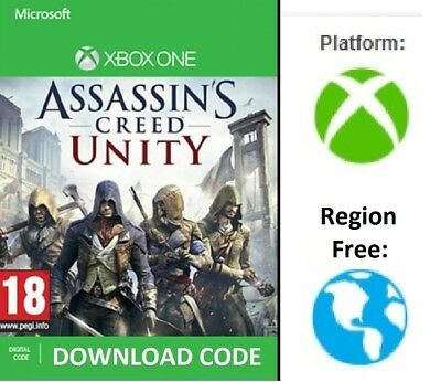 XBOX ONE Assassins Creed UNITY DIGITAL DOWNLOAD Full Game redeem on Xbox