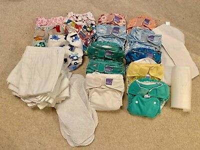 USED re-usable birth to potty nappy bundle