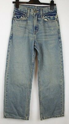 Boys LEVIS Jeans Stonewashed 5 Pocket Straight Leg W26 L26 Approx 10-11 Years