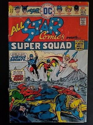 All Star Comics #58 1976 Low Grade (1st Appearance of Power Girl)