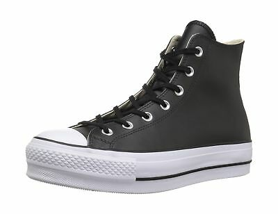 d3e370694178 Converse Women s Chuck Taylor All Star Lift Clean Hi-Top Trainers ...