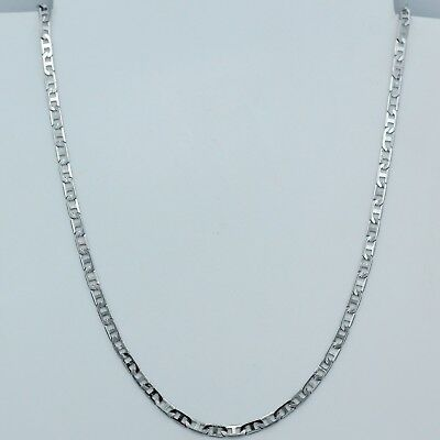 3mm 316L Titanium Stainless Steel Mens Womens Mariner Link Necklace Chain 20""