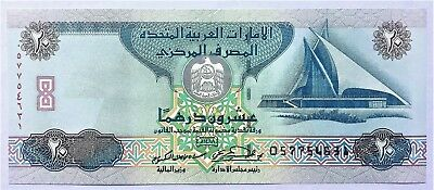 UNITED ARAB EMIRATES - 20 DIRHAMS - 1997 / AH1418 - PICK 21a , UNC .