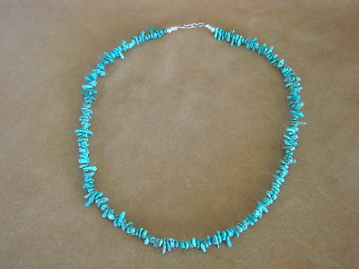 Native American Indian Jewelry Hand Strung Turquoise Nugget Necklace!  T. Yazzie