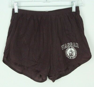 VTG Nylon Running Shorts Champion Vassar College Size Large Briefs Maroon Thin