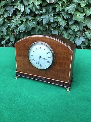 Quality Vintage Wooden Inlay French Mantle Clock