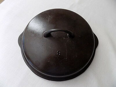 Vintage Griswold No. 8, 1035 B, Self Basting Cast Iron Dutch Oven Lid Very Clean