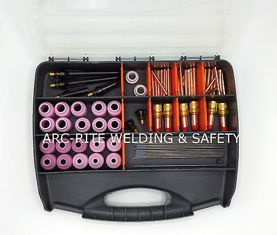 TIG Accessory Kit Ceriated Tungstens Gas Lens Collets Back Caps Ceramics