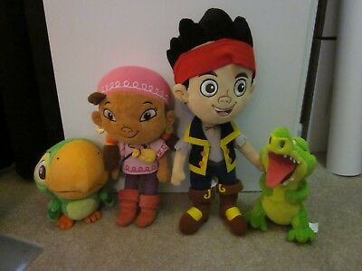 Disney Store Jake & the Never Land Pirates Set of 2 Plush - Izzy & Tic Toc Croc