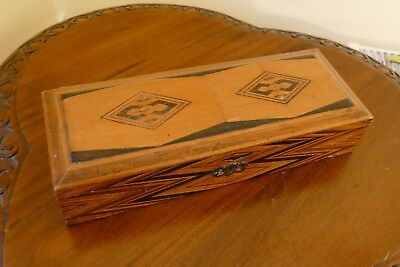 Antique / Vintage Wooden Glove Box