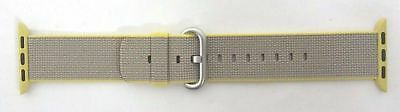 Apple Watch 38mm Yellow/Light Gray WOVEN NYLON BAND - 3C428AM/A
