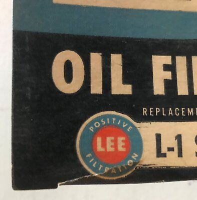 Vintage NOS Lee Sock Type Oil Filter Dodge - International - White Truck
