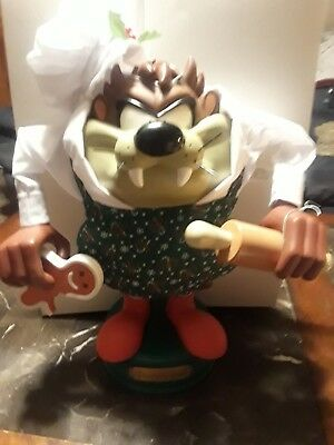 """Looney Tunes 13"""" Animated Taz Christmas Motion Figure Arms Move"""