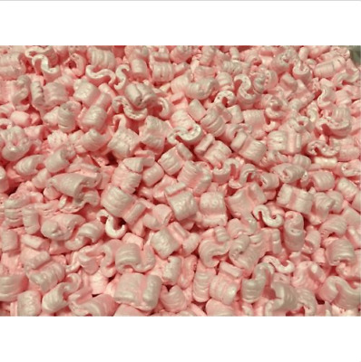 Packing Peanuts Shipping Anti Static Loose Fill 30 Gallons 4 Cubic Feet Pink