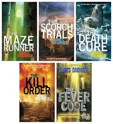 The Maze Runner by James Dashner – Audiobooks MP3-DVD (Books 1- 5 ) Unabridged