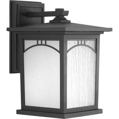 Progress Electric Residence Col 1-Light Outdoor 8 in. Textured Black LED Lantern