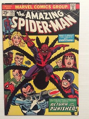 Amazing Spiderman #135 (7.5) VF- 2nd App. The Punisher No Reserve