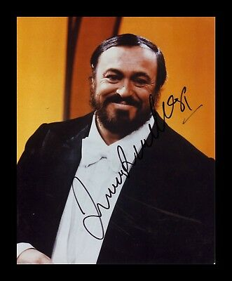 Luciano Pavarotti Autographed Signed & Framed Pp Poster Photo